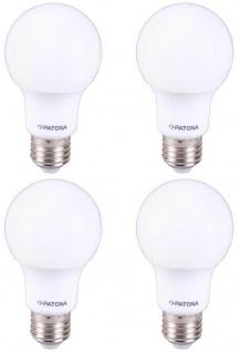 4x Patona LED-Lampe Glüh-Birne E27 7W / 55W Warm-Weiß 3000K A60 Leuchtmittel