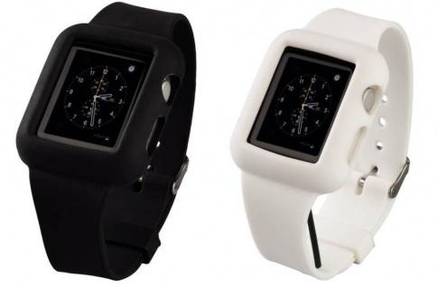 Hama Silikon Uhren-Armband Sport-Band Case für Apple iWatch Smartwatch 38mm 42mm