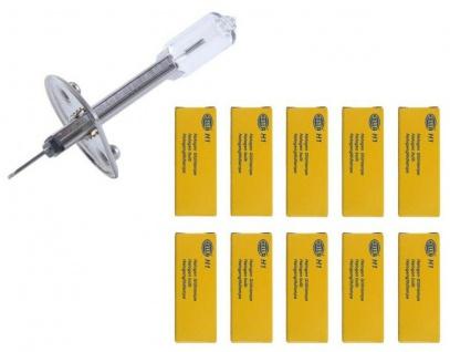 Hella 10x H1 Halogen-Lampe 12V 55W Glüh-Birne Auto-Licht P14, 5s Halogen-Birnen