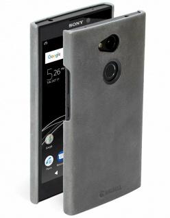 Krusell Cover Leder Hard-Case Schale Schutz-Hülle Tasche Etui für Sony Xperia L2