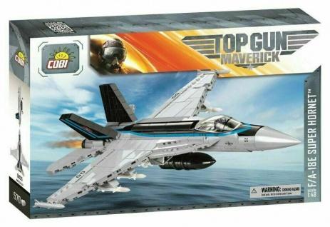 COBI 5805 F/A-18E Super Hornet Kampfflugzeug Militär US-Marine Top Gun 570 T.