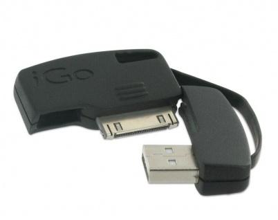 iGo USB Lade-Kabel Ladegerät Schlüssel-Anhänger für Apple iPod Touch Nano 6G 5G