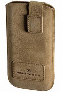 Tom Tailor Universal Leder Handy-Tasche XL Cognac Case Etui Schutz-Hülle Cover