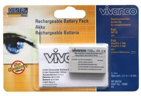 Vivanco Li-Ion Akku Batterie für Fujifilm NP-30 NP30 Fuji FinePix F440 F450 etc