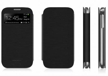 Macally Klapp-Tasche Hülle Case Flip Cover Etui für Samsung Galaxy S4 SIV S-View