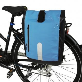 Fischer Gepäckträger-Tasche + Rucksack Wasserfest Fahrrad-Tasche Seiten-Tasche