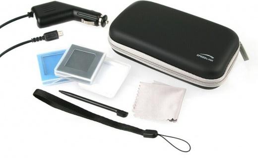 Speedlink 9in1 Set PACK Hardcase Tasche KFZ Ladegerät Folie für Nintendo DS Lite