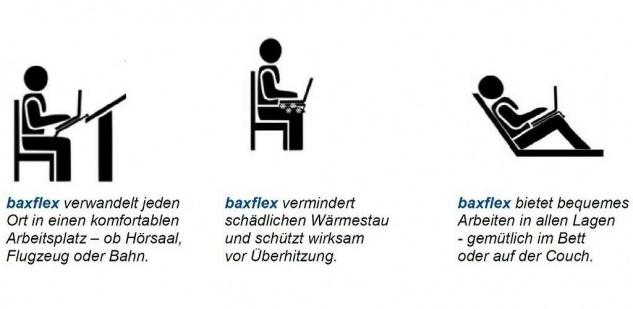 """Floyd-Baxter Board Notebook-Tasche mobiler Arbeitsplatz Ständer Hülle 14 15"""" 16 - Vorschau 3"""