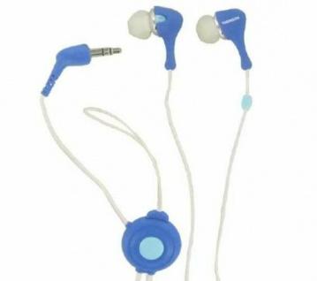 Thomson In-Ear-Kopfhörer Ohrhörer HED 134 Headset 3, 5mm Klinke Blau/Weiß