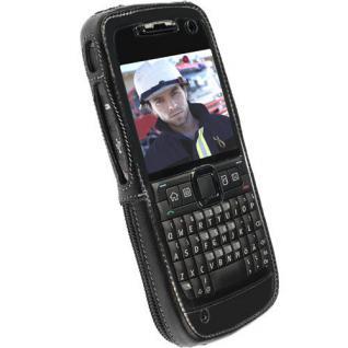 Krusell Handy-Tasche + Clip Leder für Nokia E71 E 71 Schutz-Hülle Case Cover Bag