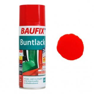 Baufix Lack-Spray Rot Glanz 400ml Sprüh-Dose Spray-Dose Sprüh-Lack Farb-Spray
