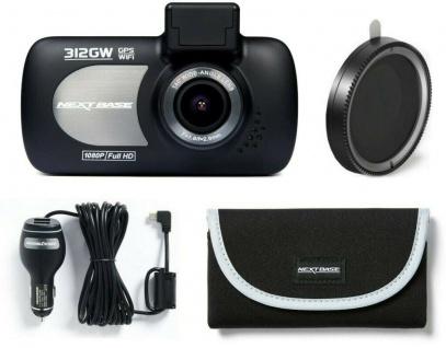 Nextbase 312GW Dash-Cam Bundle Tasche Kfz-Lader Pol-Filter G-Sensor Auto-Kamera