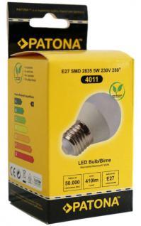 Patona LED Mini Birne E27 5W 40W Warmweiß LED-Lampe Ball Glühbirne Leuchtmittel