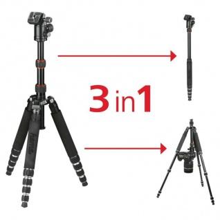 Hama Dreibein-Stativ Traveller Premium Duo 146cm Ball Kamera-Stativ Foto-Stativ