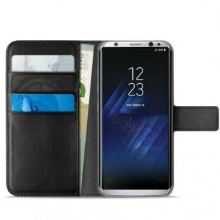 Puro Eco-Leather Wallet Cover Schutz-Hülle für Samsung Galaxy S8 Edge