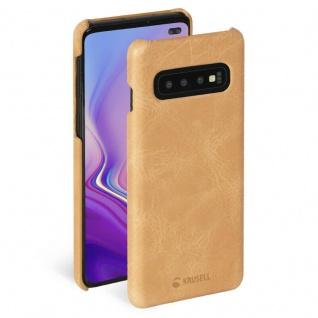Krusell Cover Leder Case Schale Schutz-Hülle Tasche für Samsung Galaxy S10+ Plus