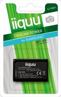 GP iiquu Li-Ion Akku für Samsung BP-1310 BP1310 NX5 NX10 NX11 NX20 NX210 NX1000