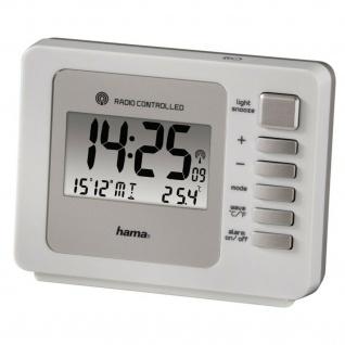 Hama Funkwecker Uhr Alarm Beleuchtet Schlummer Datum Thermometer Temperatur