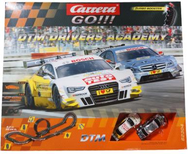 Carrera Go DTM Drivers Academy Audi Mercedes Auto-Rennbahn Set 2 Autos 1:43