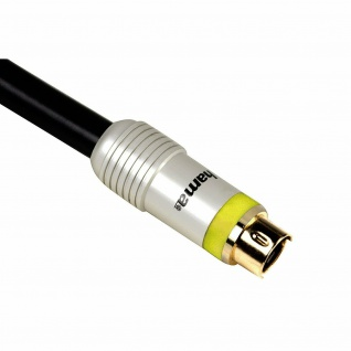 Hama Home Theatre 5m S-Video Kabel Anschlusskabel S-VHS SVHS 4-pol DIN TV PC etc