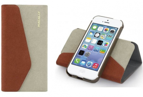 Macally Schutz-Hülle Case Flip Cover Klapp Handy-Tasche Etui für Apple iPhone 5C