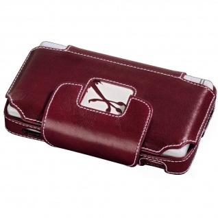 GRIPIS Leder-Tasche rot Case Hülle Etui Bag für Nintendo DS Lite NDSL Konsole