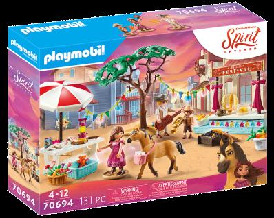 Playmobil 70694 Spirit Untamed Miradero Festival Pferde Reiten Spielzeug-Set