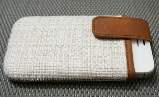 DOLCE VITA Juta Handy-Tasche Etui für Apple iPhone 4 4S Case Schutz-Hülle Wallet - Vorschau 2
