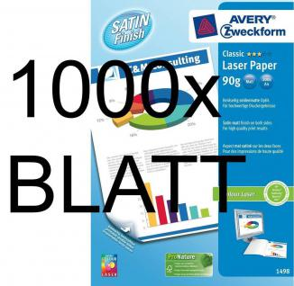 1000 Blatt Avery Zweckform Colour-Laser Papier weiß A4 90g matt Druckerpapier