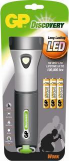 GP CREE 1W LED Taschenlampe Profi Work HELL Lampe 6x AA-Batterie Outdoor Camping - Vorschau 2