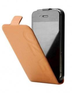Kenzo Flip-Cover Klapp-Tasche Camel Schutz-Hülle Case Etui für Apple iPhone 4s 4