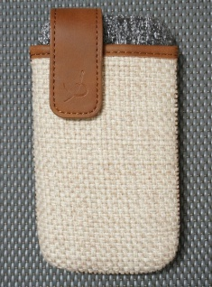 DOLCE VITA Juta Handy-Tasche Etui für Apple iPhone 4 4S Case Schutz-Hülle Wallet