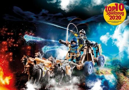 Playmobil 70225 Novelmore Wolfsgespann und Wasserkanone Streitwagen Spielzeug