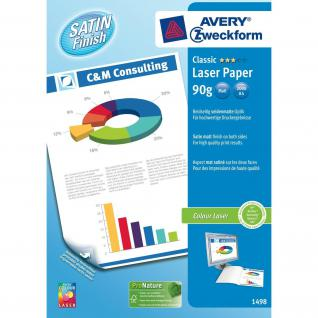 Avery Zweckform Colour-Laser Papier weiß A4 90g 200 Blatt matt Satin Finish Copy
