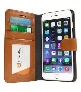 XtremeMac Wallet Klapp-Tasche Braun Cover Case Hülle für Apple iPhone 6 6s Plus