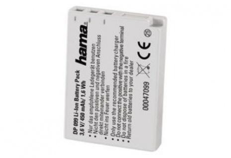 """Hama Li-Ion Akku für Fuji/Pentax NP-30 NP-60 KLIC-5000 DB-40 DB-43 D-LI"""" PDR-BT3"""