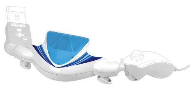 Nitho Jetski Controller Jet Ski Lenkrad für Nintendo Wii Wiimote Nunchuck Remote