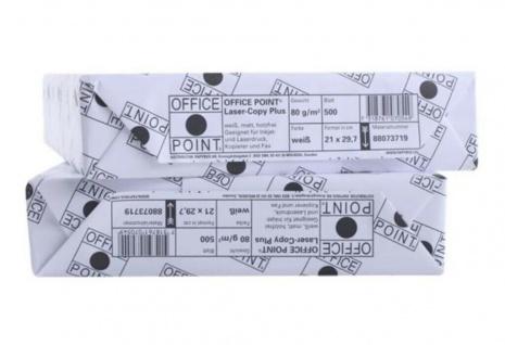Papyrus Office Point Kopier-Papier 80g/m² DIN A4 2500 Blatt Weiß Drucker-Papier - Vorschau 2