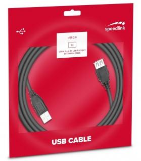 Speedlink 3m USB 2.0 Verlängerungs-Kabel USB-A Stecker zu USB-A Buchse HighSpeed