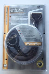 Monster Cable Monster Video1 Flat Scart 1m Verbindungskabel Scart-Stecker Kabel