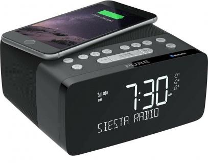 Pure Siesta Charge Digital-Radio Radio-Wecker Uhren-Radio FM DAB+ USB Bluetooth