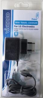 Vivanco Ladegerät Netzteil für LG KU990 KG920 KG810 L600V KP325 KU250 KU800 KS20