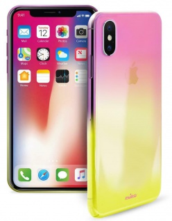 Puro Hologram Cover Case Schutz-Hülle Klar Farb-Verlauf für Apple iPhone X / Xs