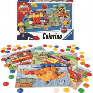 Ravensbruger Feuerwehrmann Sam Colorino Steck-Spiel Puzzle Kleinkind Spielzeug