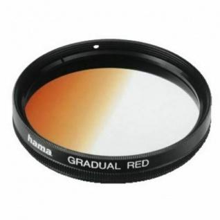 Hama Verlauf-Filter rot 49mm Effekt-Filter Farbfilter für DSLR DSLM Foto Kamera