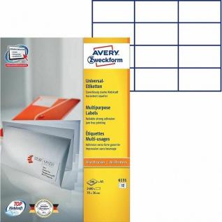 Avery Zweckform 200x Universal Etiketten A5 70x36mm Adress-Etiketten Brief etc