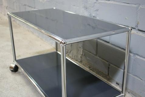 USM Haller Lowboard Regal Tisch Beistell-Tisch 75x35 anthrazitgrau Ablage