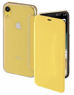 Hama Booklet Clear Klapp-Tasche Schutz-Hülle Case Flip-Cover für Apple iPhone XR