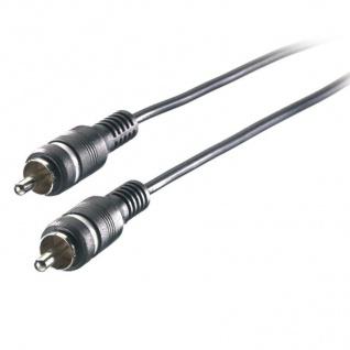 Vivanco 10m Subwoofer-Kabel 1x- 1x Cinch-Stecker Subwooferkabel RCA LS-Kabel Sub
