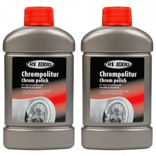 2x RS1000 Chrom-Politur 250ml Chrom-Reiniger Pflege Schutz Auto Polier-Paste PKW